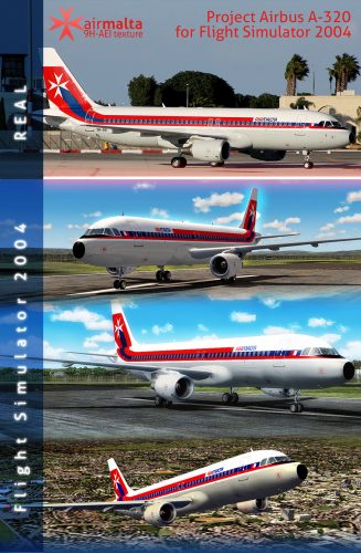 Flight Simulator Texture for Air Malta A320 Retro