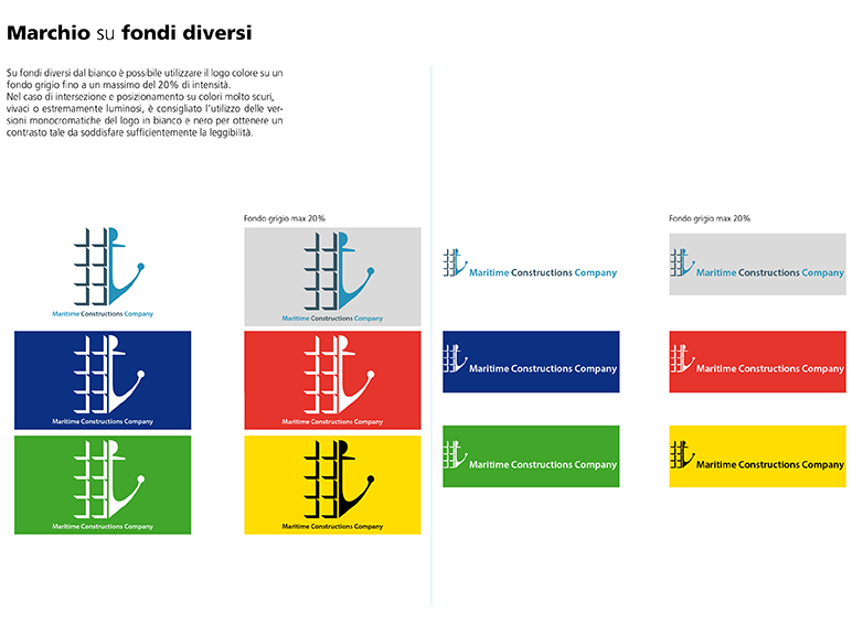 Logotipo su fondi diversi