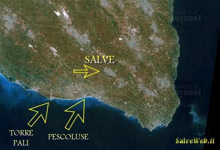 La costa ed il Litorale di Pescoluse e Torre Pali
