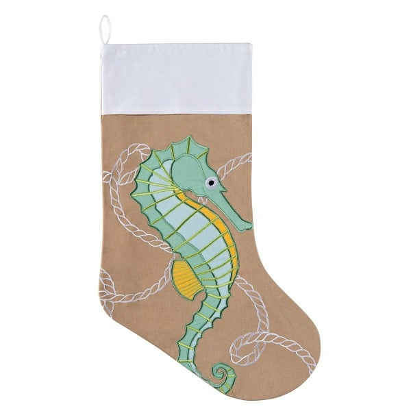 seahorse christmas stocking