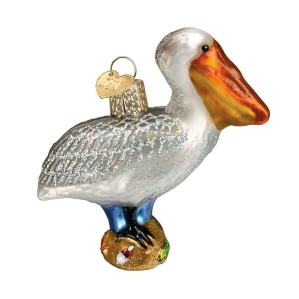 pelican christmas tree ornament