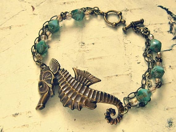 seahorse cuff bracelet