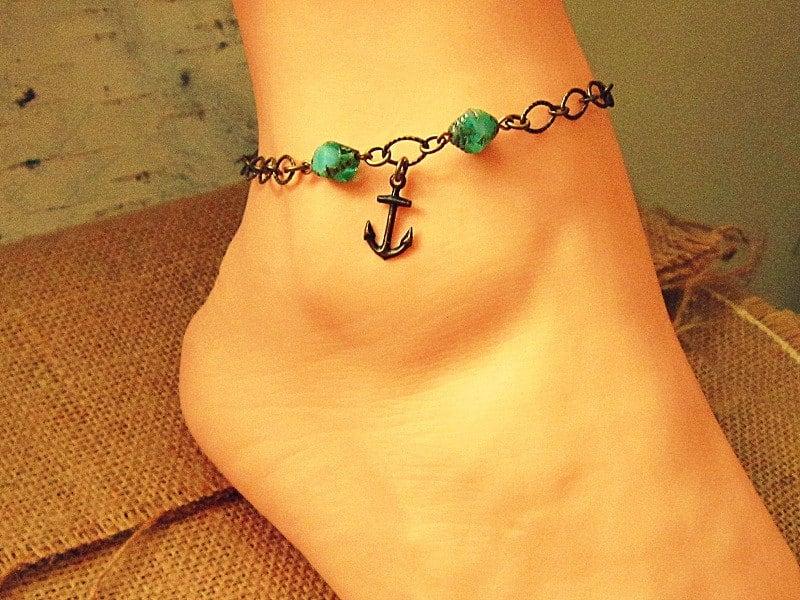 anchor anklet