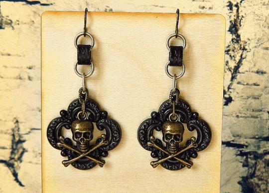 black pirate earrings for women