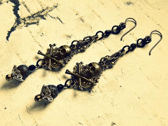 elegant skull earrings