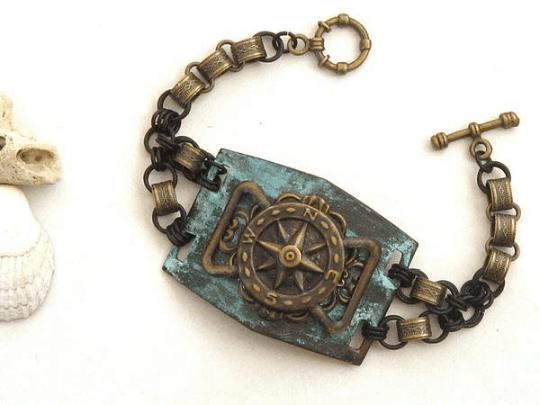 pirate compass bracelet