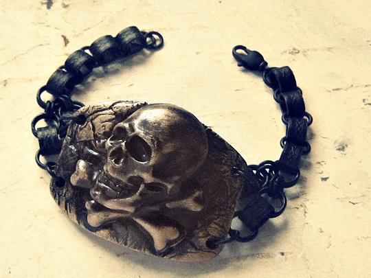 pirate cuff bracelet for men