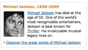 Amazon discover great Michael Jackson works