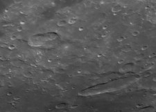 Hainzl (top left) and Schiller (lower right) are very unusually shaped craters.
