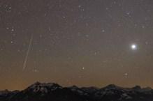 Geminid Meteor over Bregenzerwald, Detail