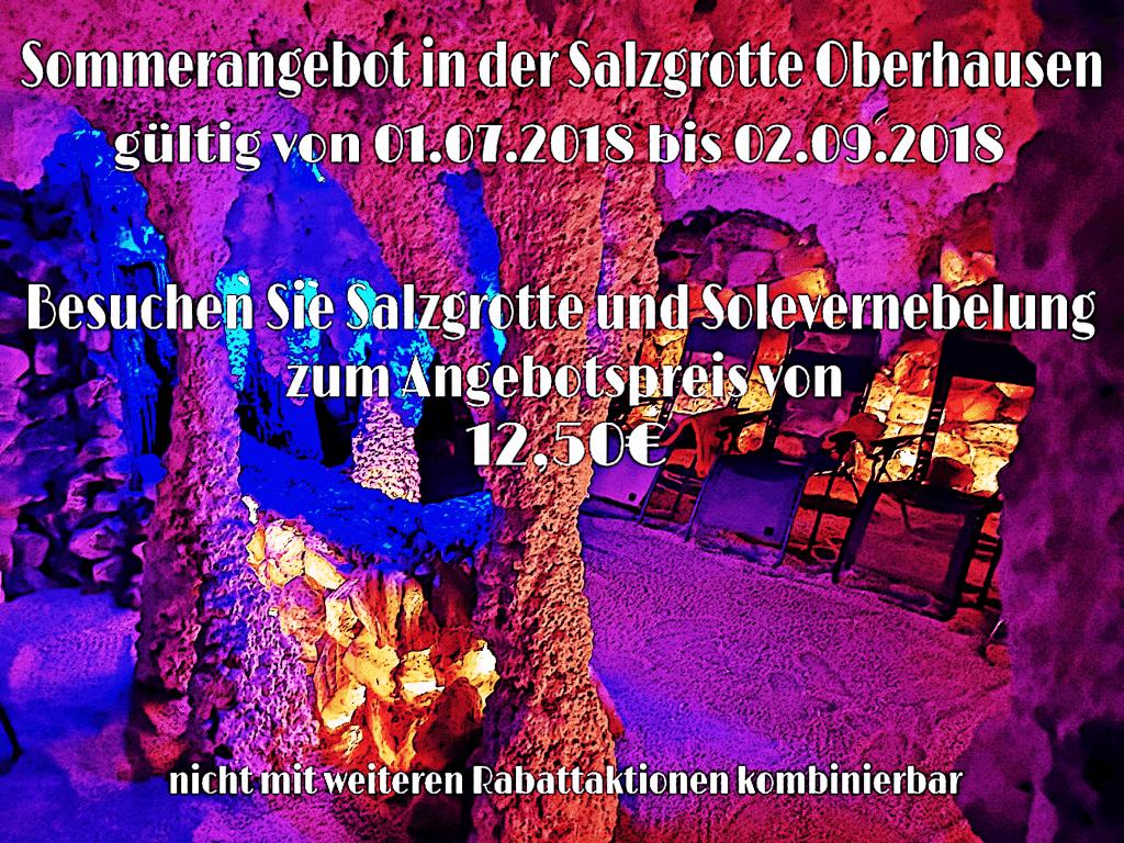 Sommerangebot 2018 - Salzgrotte Oberhausen