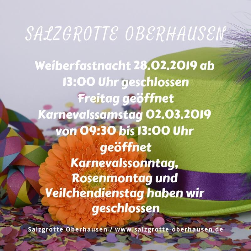 Weiberfastnacht 28.02.2019 ab 13:00 Uhr geschlossen Freitag geöffnet Karnevalssamstag 02.03.2019 von 09:30 bis 13:00 Uhr geöffnet Karnevalssonntag, Rosenmontag und Veilchendienstag haben wir geschlossen