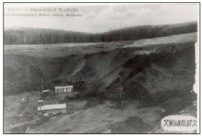 Alte Postkarte mit Bergbaumotiv