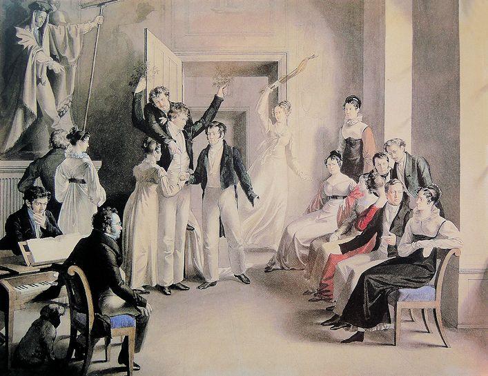 Franz Schubert am Klavier