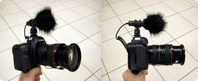 Canon 5D Mark II with Pro-24CM mic
