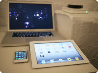 Apple iPad 2, iPhone 4, MacBook Pro, Apple TV, AirPort Extreme