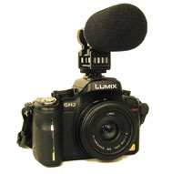 DSLR with Azden SMX-20 DSLR Stereo Microphone