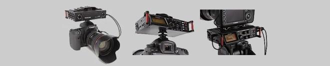 Tascam DR-70D on camera