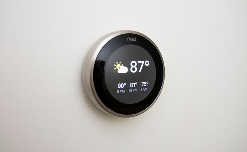 Nest Learning Thermostat 3rd Gen on wall
