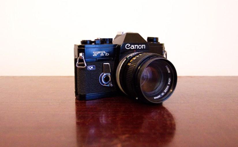 The Canon FTb SLR 35mm film camera