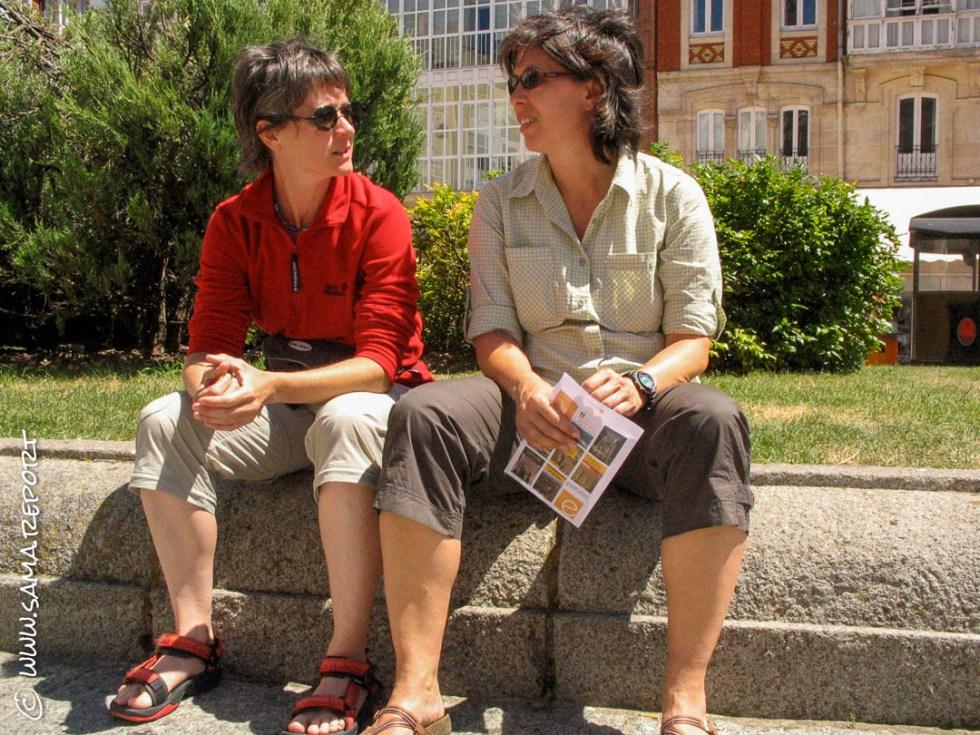 Pause und Plausch in Burgos