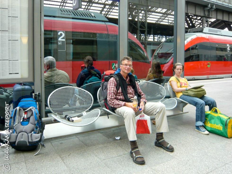 Mit dem Zug Richtung Dinslaken