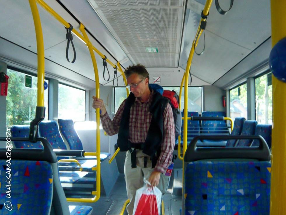 Mit dem Bus Richtung Kirchberg