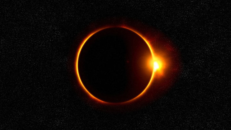 Photo of Solar eclipse visible in cities across Pakistan | SAMAA