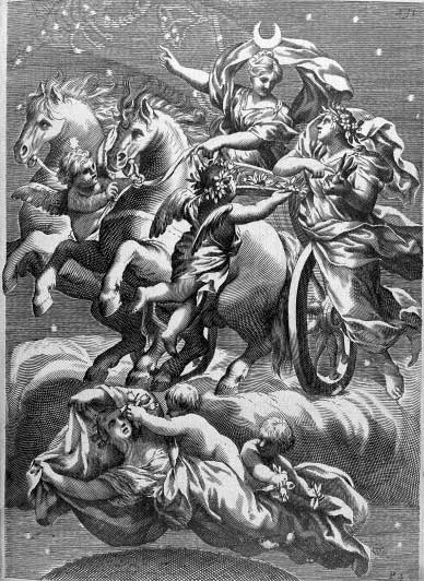 Selene por Ferrari, Giovanni Battista. 1646