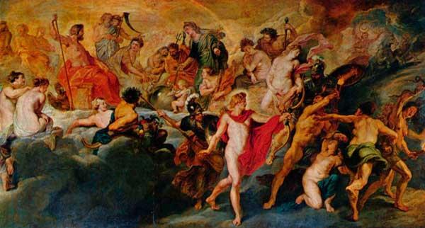 Reunión de los Dioses en el Olimpo. Rubens. 1636-38