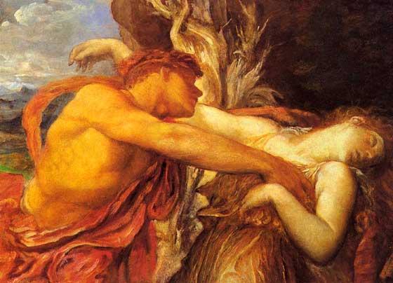 Orfeo y Eurídice. Edward John Poynter. 1862