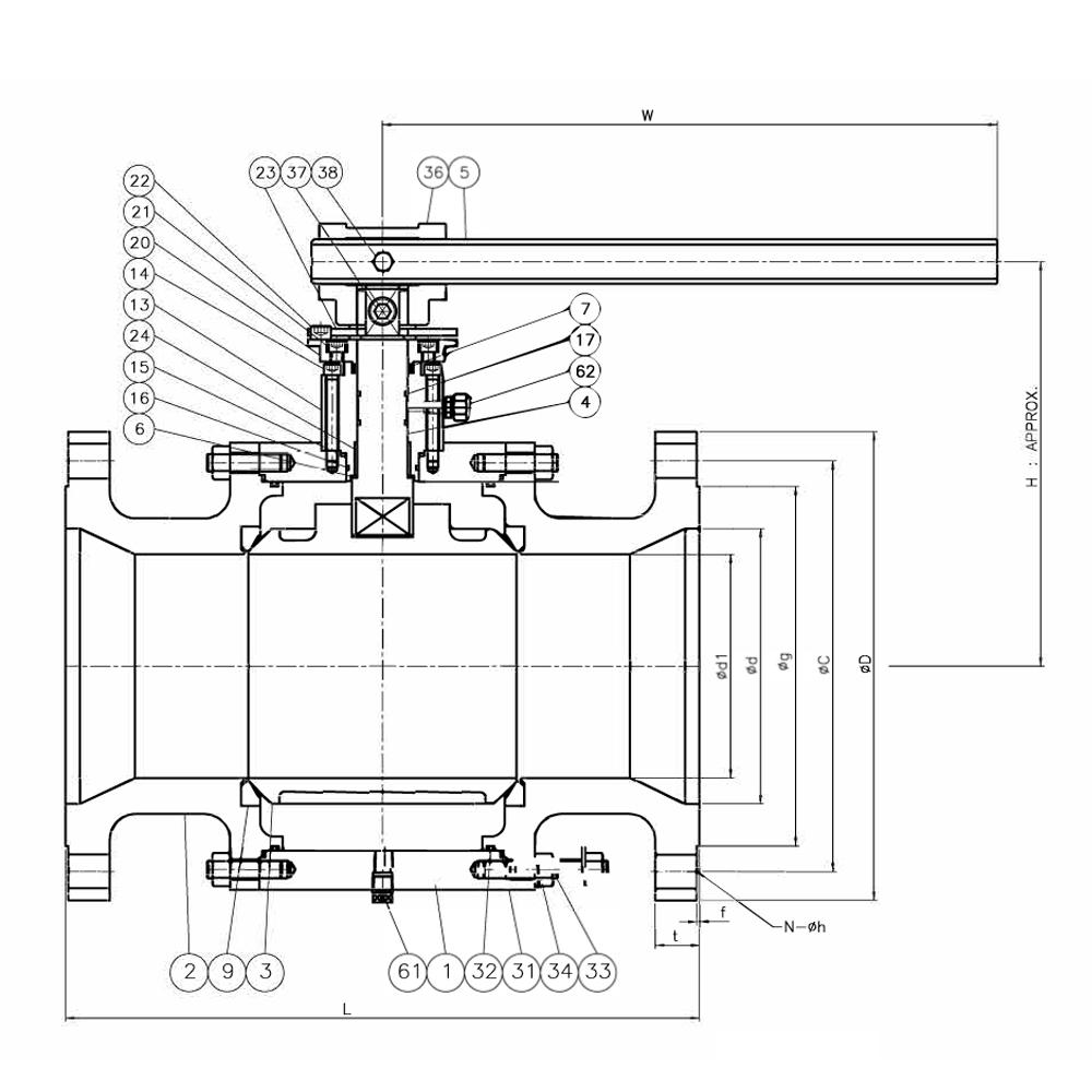 hight resolution of floating ball valve