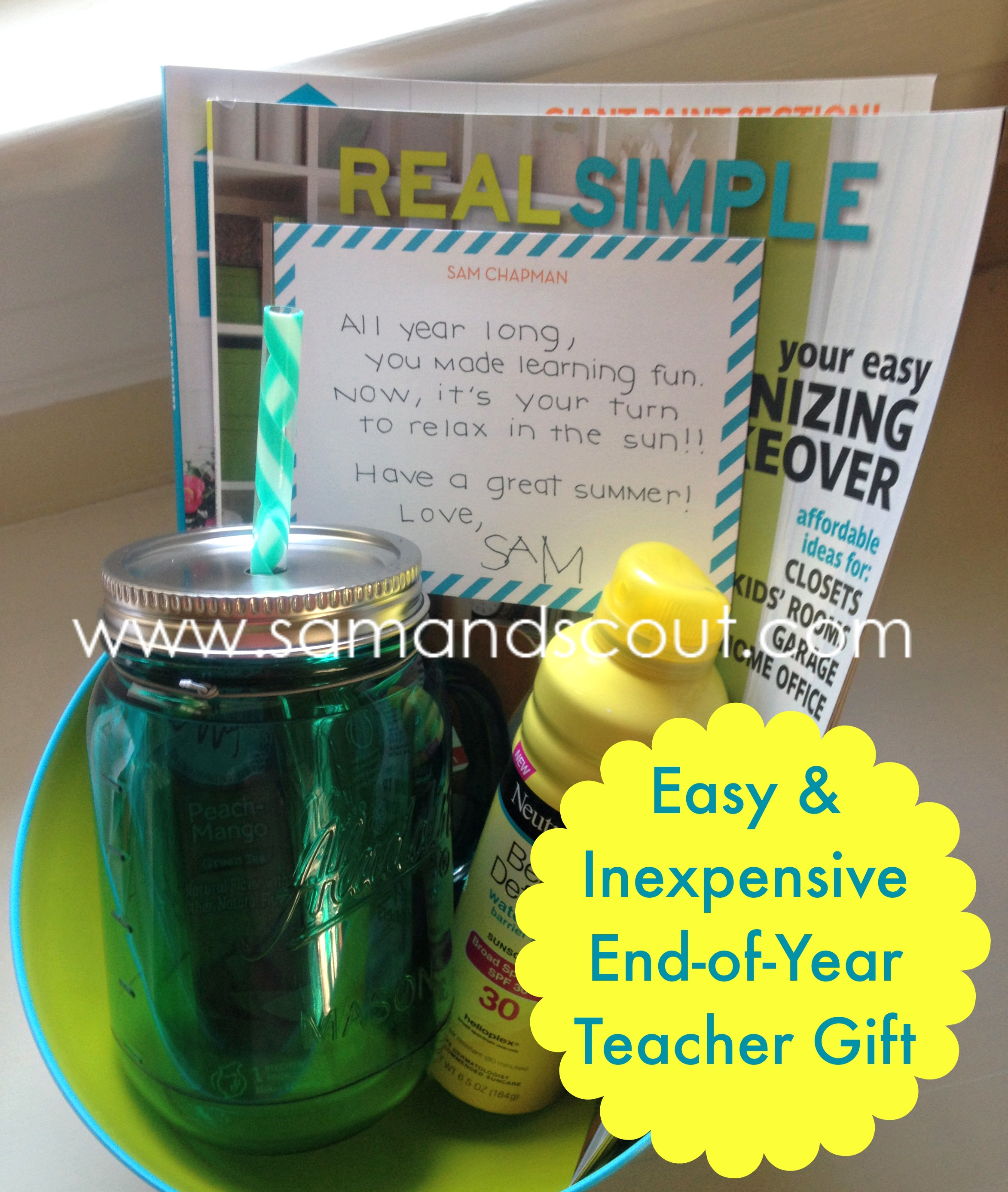 Easy and Inexpensive End-of-Year Teacher Gift - Teaching Sam and Scout