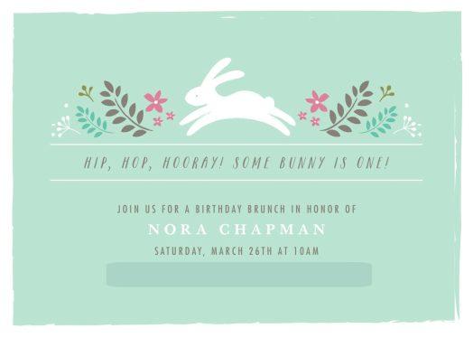 Nora's Bunny Brunch Invitation