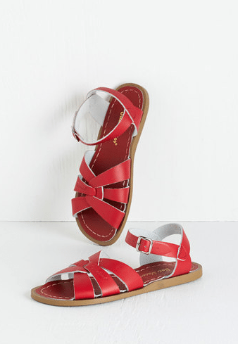 Salt Water Sandal in Red
