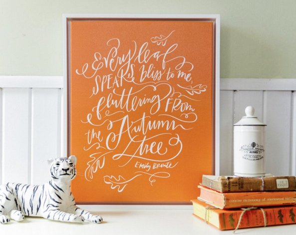 Fall Leaves Canvas by Lindsay Letters