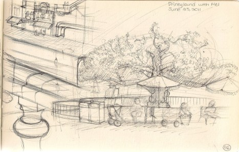 sketch of Disneyland