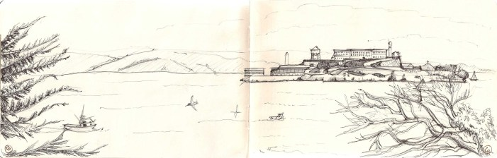 Prisons make me really uncomfortable, I drew this at Matthew's request. He is very interested in Alcatraz.