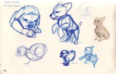 sketch of puppies