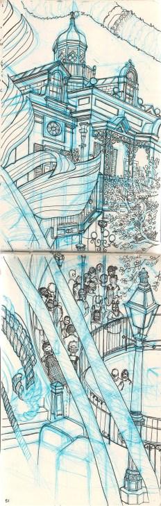 sketch of Disneyland