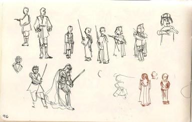 Samantha George | sketch of Jedi Training Academy activity at Disneyland.