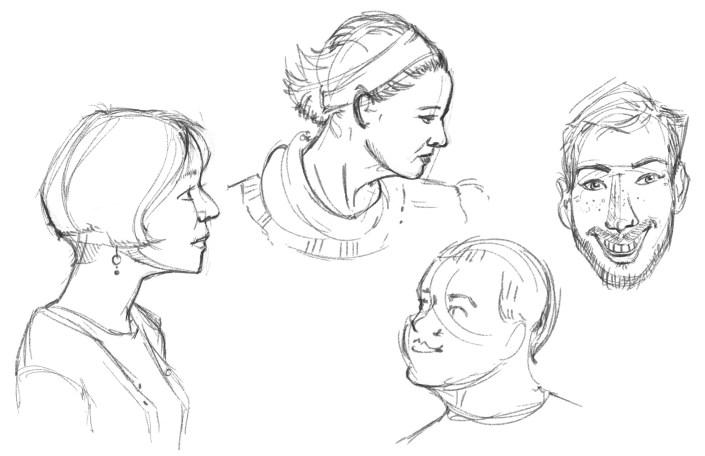 digital portraits drawn on a cintiq