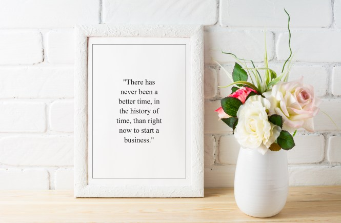 FREE Motivational Quote Printable on Entrepreneurship and Starting Your Own Business