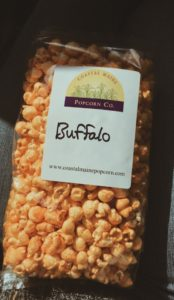 Buffalo flavored popcorn from Coastal Maine Popcorn Company in Portland