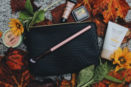 September Ipsy Bag - Luxie Beauty / luxie rose gold medium angled shading eye brush 207 Pixi by Petra / beauty blush duo / peach honey Skinfood / egg white pore cleansing foam Smashbox Cosmetics / photo finish radiance primer Elizabeth Mott / Pop! Goes the Shadow / gunmetal
