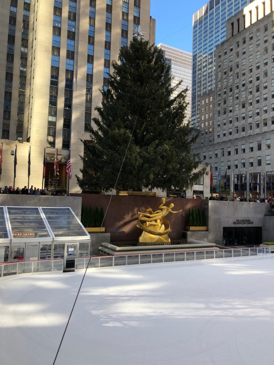Christmas Tree in Rockefeller Center in NYC