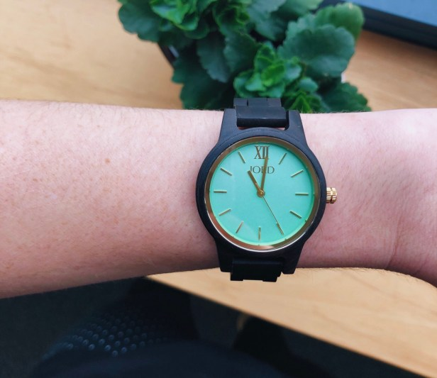 Frankie 35 - Dark Sandalwood and Mint JORD watch