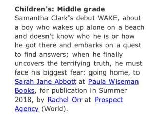 WAKE Publishers Marketplace announcement