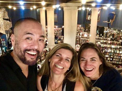 Henry Lien, Kim Tomsic and Samantha M Clark at The Last Bookstore.
