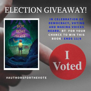 #authorsforthevote election giveaway for THE BOY, THE BOAT, AND THE BEAST